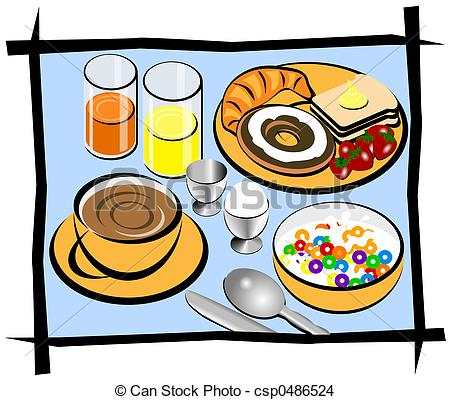 Drawing of Complete breakfast.