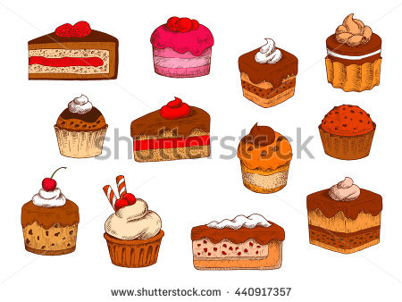 Petit Fours Isolated Stock Photos, Royalty.