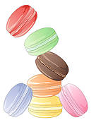 Stock Photography of Petit Fours k2416721.