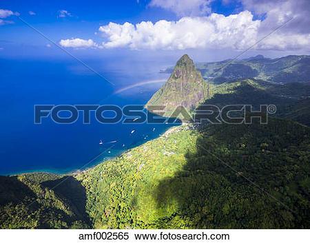Stock Image of Caribbean, Antilles, Lesser Antilles, Saint Lucia.