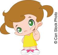 Clip Art et Illustrations de Petite fille. 52 793 dessins et.
