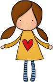 Clipart of A little girl looking at a giant candle vta0021.