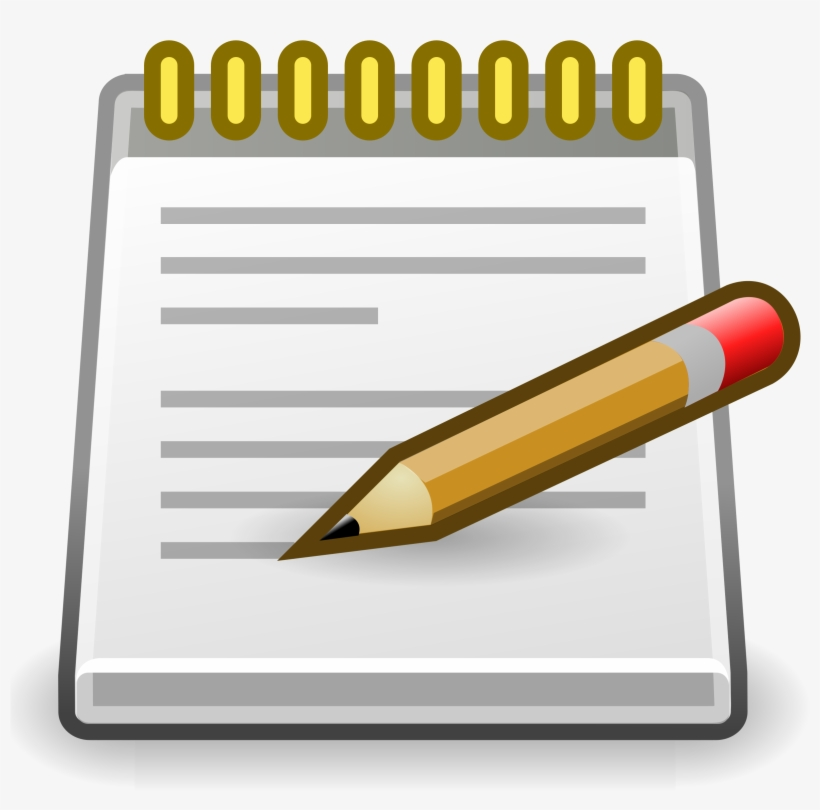 Notepad And Pen Clipart.