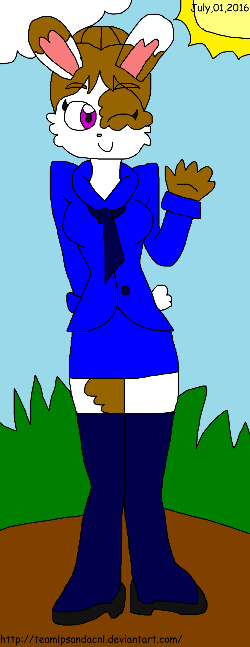 Bonnie Rabbitine Petropolis Newswoman by teamlpsandacnl on DeviantArt.