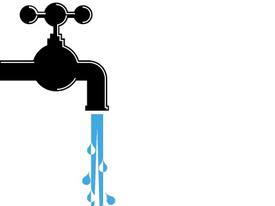 Running Tap Water Clipart.