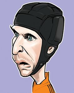 Football Caricatures Clipart.