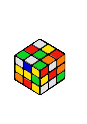 Free Clipart of Rubik S Cube Random Petr 01.