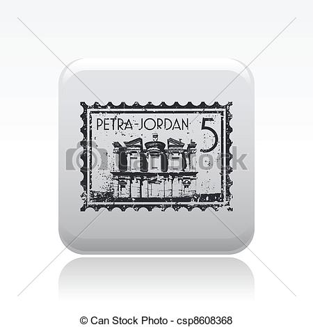 Vector of Vector illustration of single isolated Petra icon.