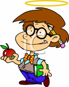 Clip Art Picture of a Perfect Student.