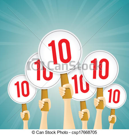 Perfect 10 clipart.