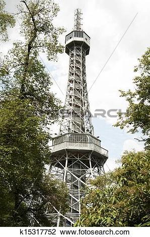 Stock Photo of Petrin Lookout Tower, Prague.