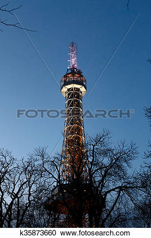 Stock Photography of Petrin Tower View k35873660.