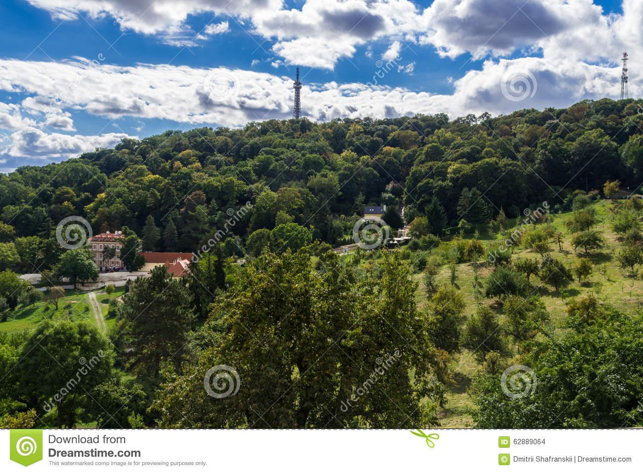 Petrin Tower Royalty Free Stock Image.