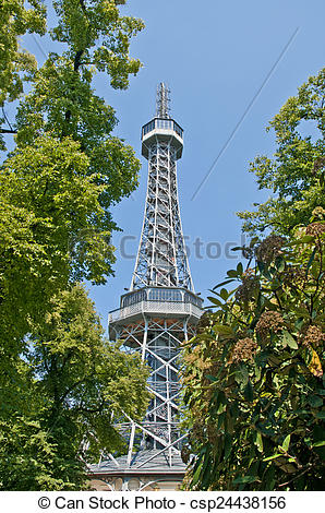 Stock Images of Petrin Lookout Tower.