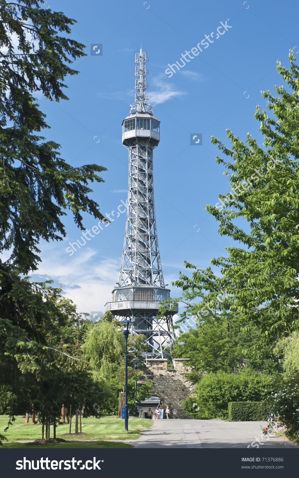 Prague Lookout Tower On Petrin Hill Stock Photo 71376886.