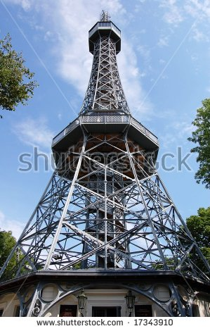 Prague Petrin Tower Replica Eiffel Tower Stock Photo 62976283.