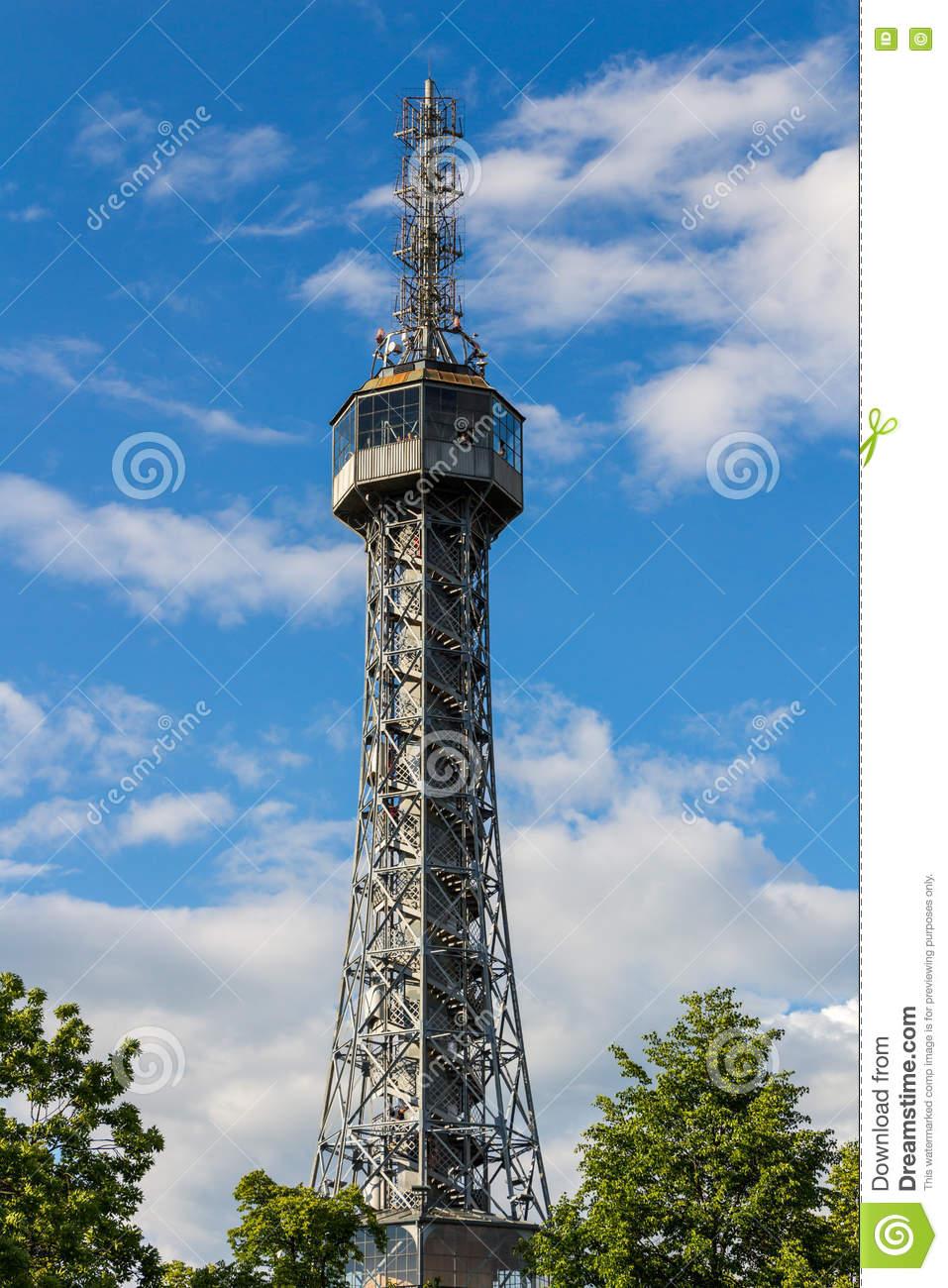 Petrin Lookout Tower (1892), Resembling Eiffel Tower, Petrin Hill.