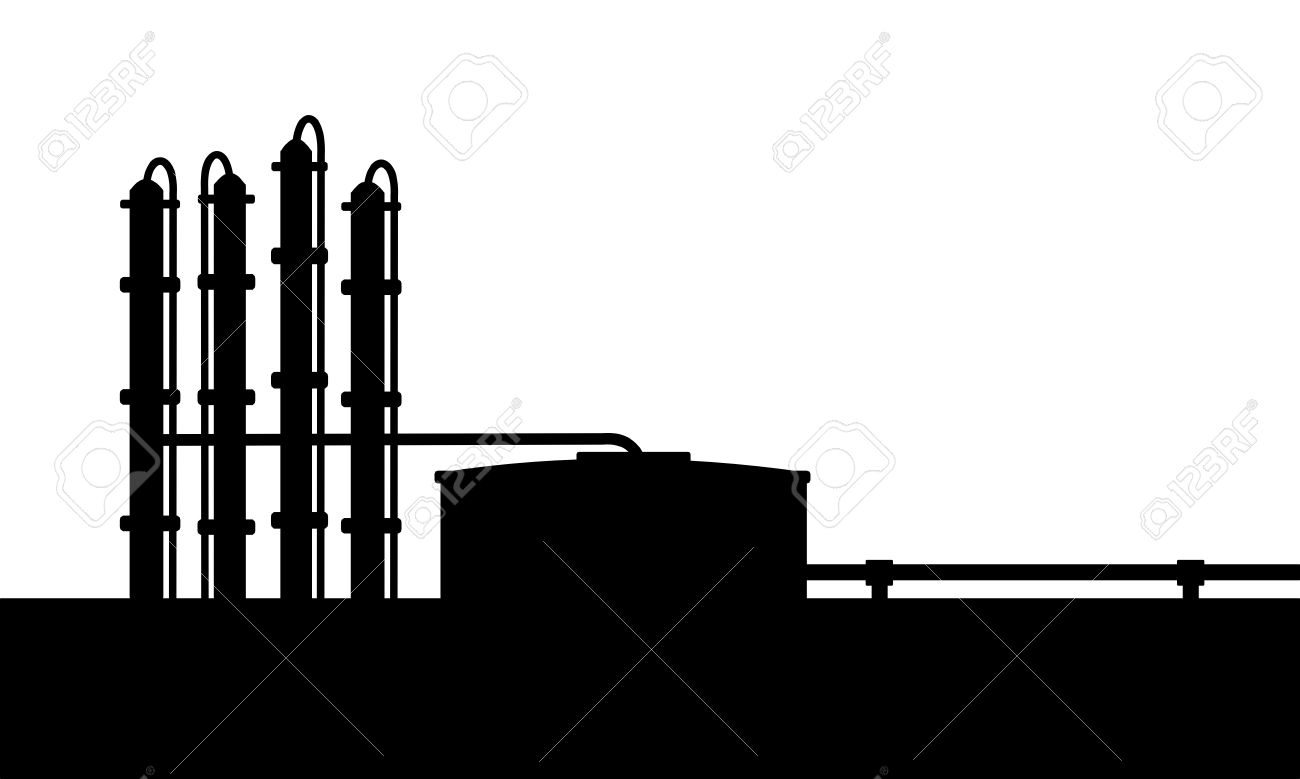 Petroleum Refinery Royalty Free Cliparts, Vectors, And Stock.