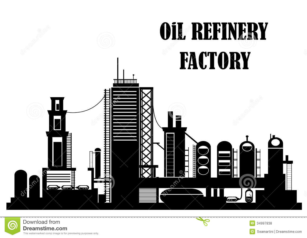 Oil Refinery Plant Royalty Free Stock Photography.