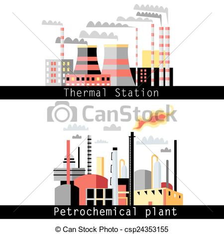 Petrochemical plant Illustrations and Clip Art. 2,115.