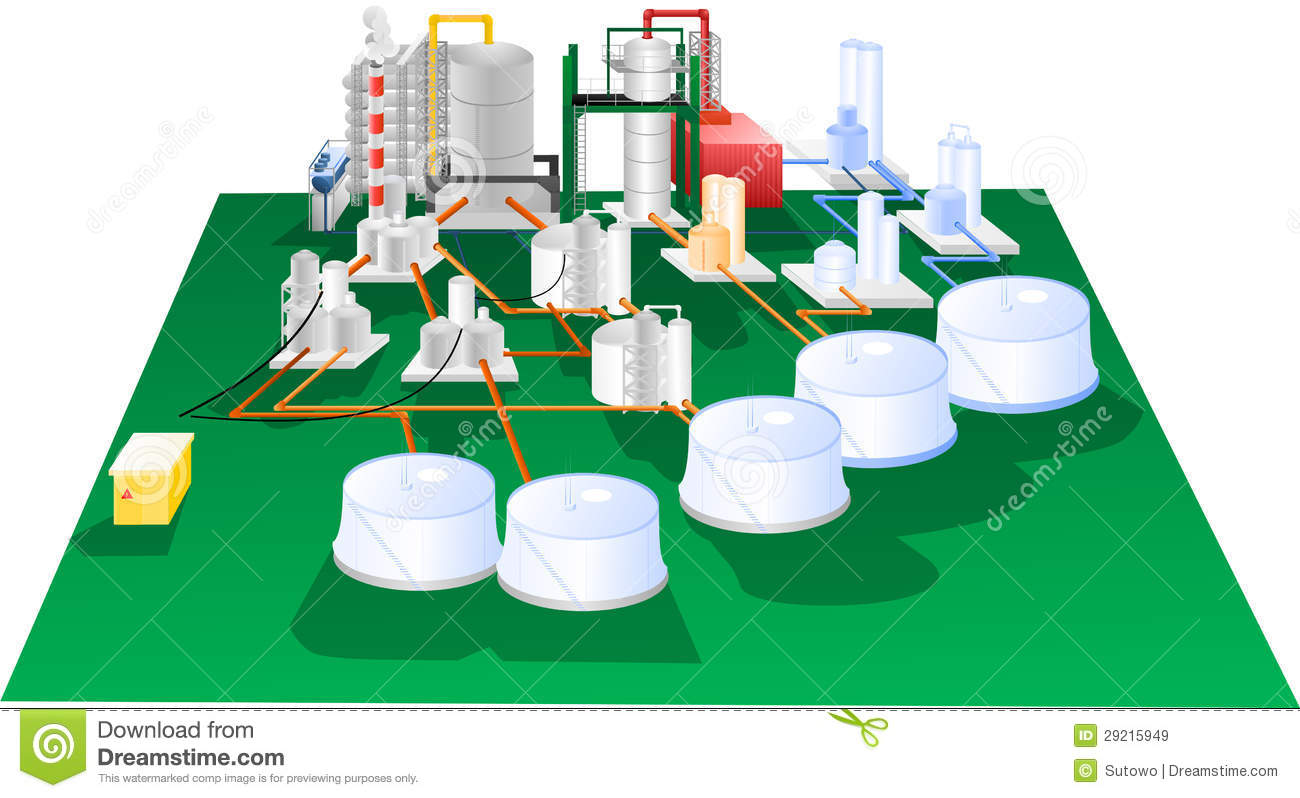 Petrochemical Stock Illustrations.