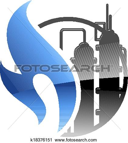 Clipart of Petrochemical and gas industry k18376151.