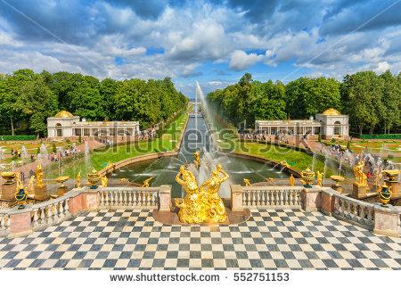 Peterhof Stock Photos, Royalty.