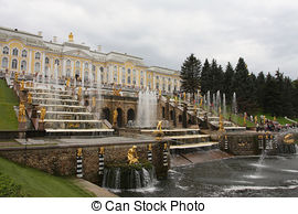 Stock Photography of Fountain in Petrodvorets (Peterhof), St.