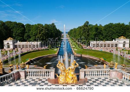 Peterhof Palace Peterhof Petrodvorets Stock Images, Royalty.