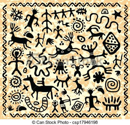 Petroglyph Illustrations and Clip Art. 203 Petroglyph royalty free.