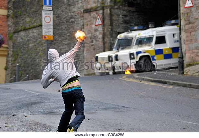 Youth With Petrol Bomb Stock Photos & Youth With Petrol Bomb Stock.