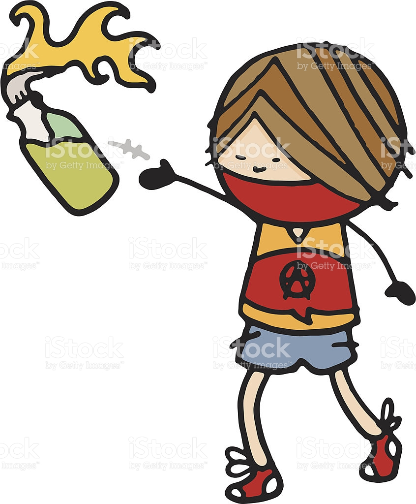 Person Throwing A Petrol Bomb stock vector art 165790056.