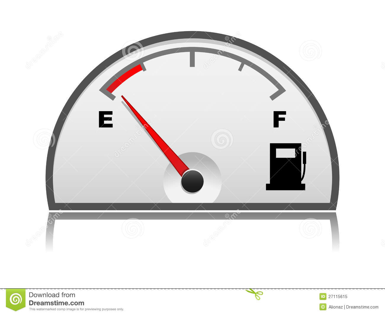 Petrol Gauge Royalty Free Stock Photo.