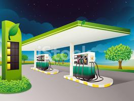 Petrol Pump stock vectors.