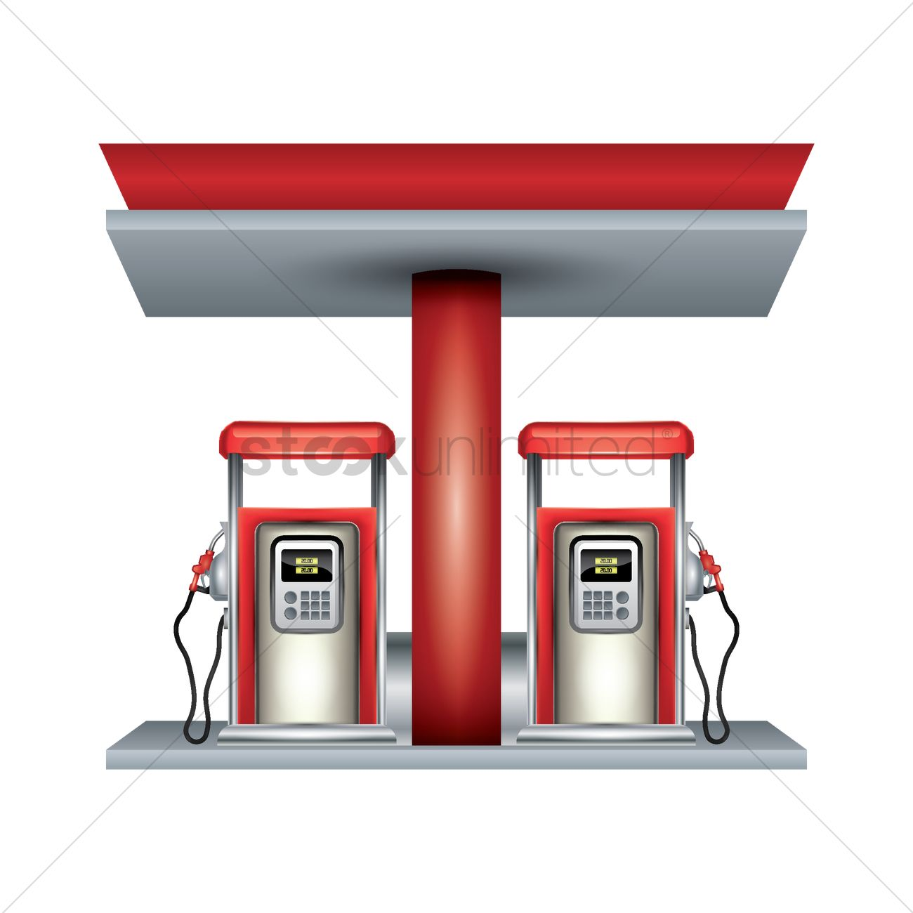 Petrol station Vector Image.