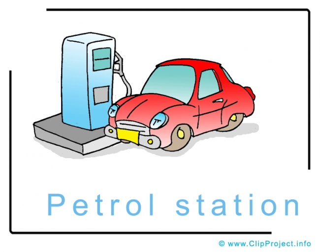 Showing post & media for Cartoon fuel station logo.