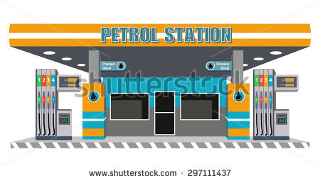 Petrol Station Stock Photos, Royalty.
