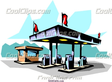 Clipart of a gas station.
