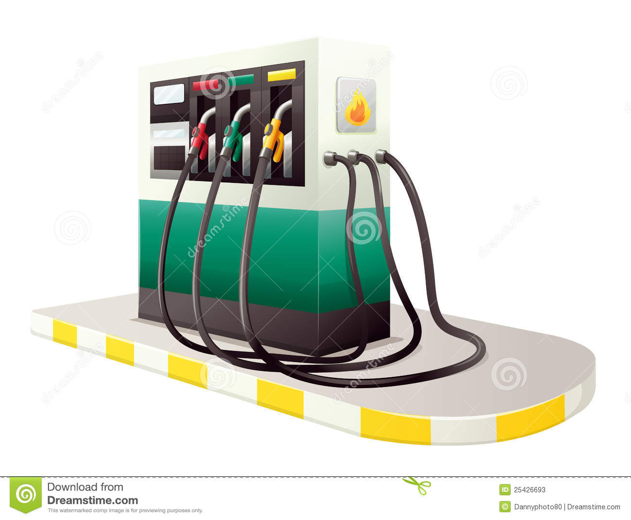 Petrol Dispenser Unit Stock Photos.