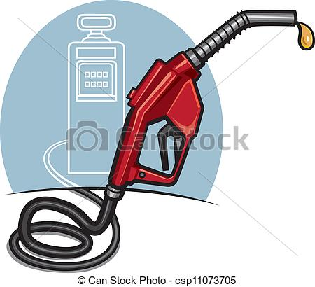 Vector Clipart of fuel pump with dispenser csp11073705.
