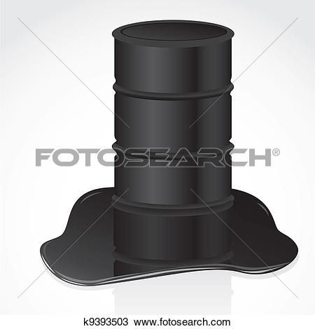 Clipart of petroleum spill and gallon k9393503.