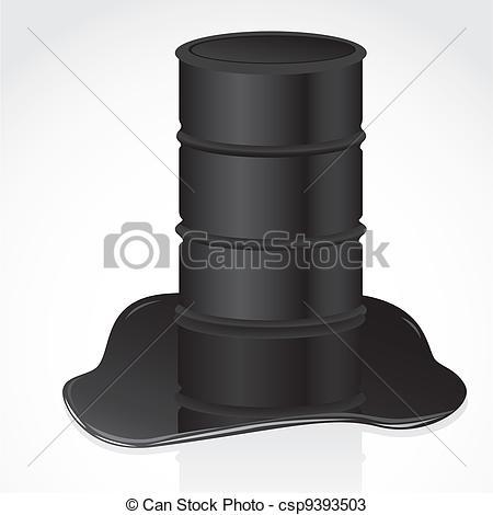 Vectors of petroleum spill and gallon vector illustration.