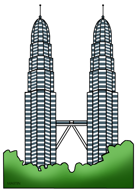 Free Architecture Clip Art by Phillip Martin, Petronas Towers.