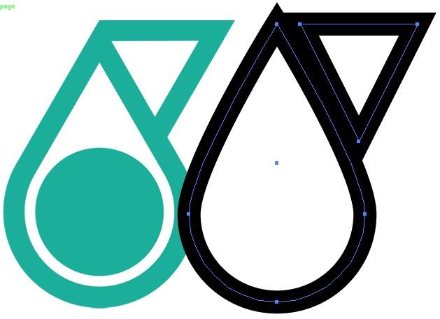 Replicating Petronas logo, two shapes w/big strokes.