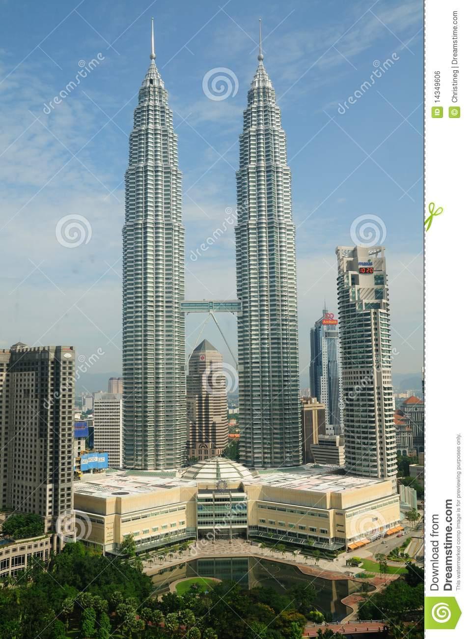 Petronas Towers In Kuala Lumpur, Malaysia Editorial Photo.
