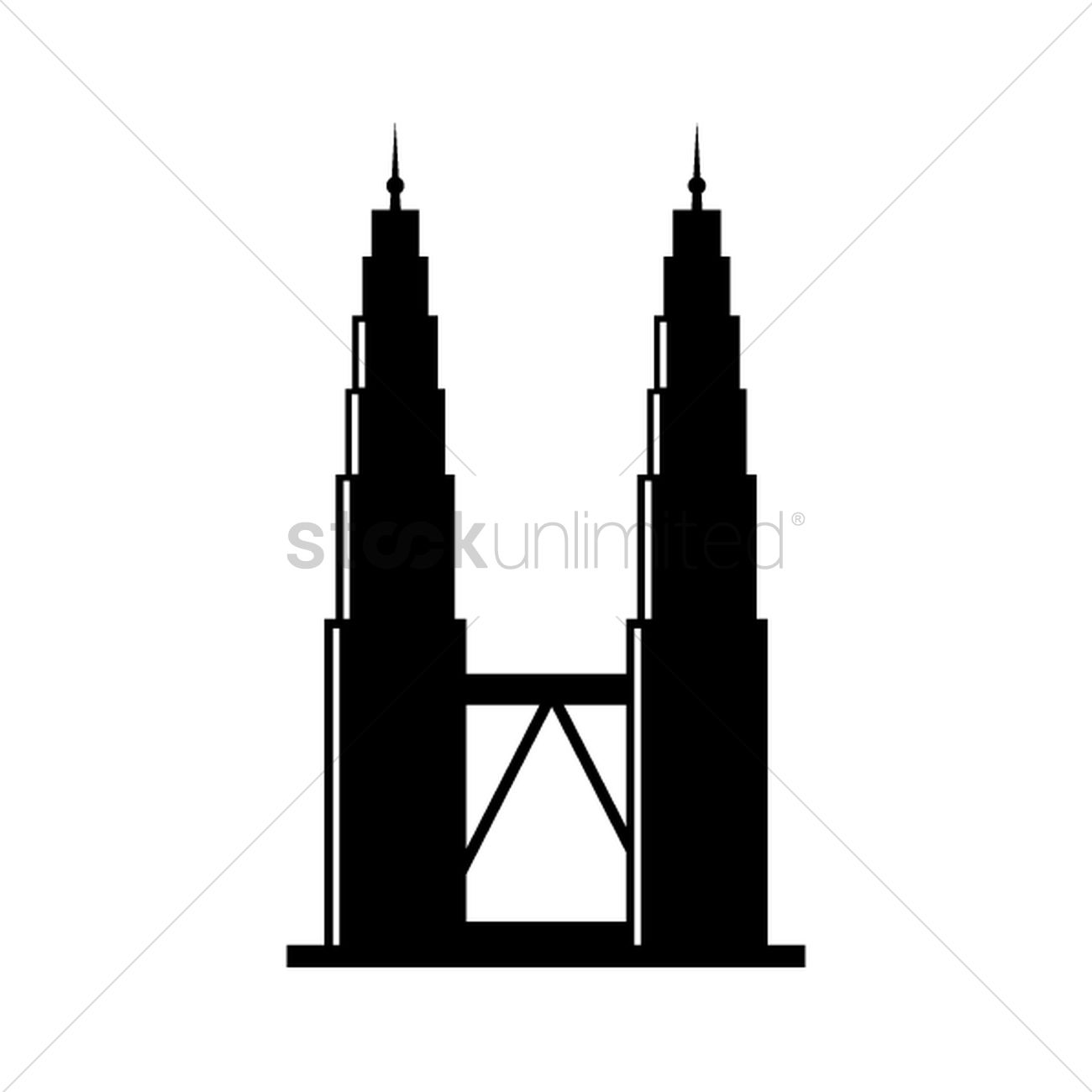 Free Petronas tower Vector Image.