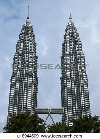 Stock Photograph of Petronas Towers, Kuala Lumpur u18944609.