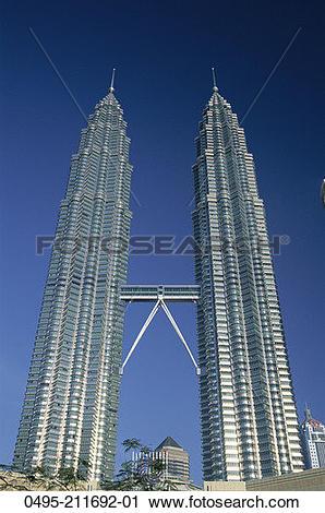 Stock Photography of Malaysia, Kuala Lumpur, Petronas Towers (KLCC.