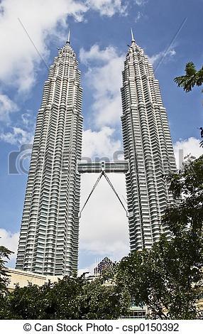 Stock Photo of Petronas Twin Towers (KLCC). csp0150392.