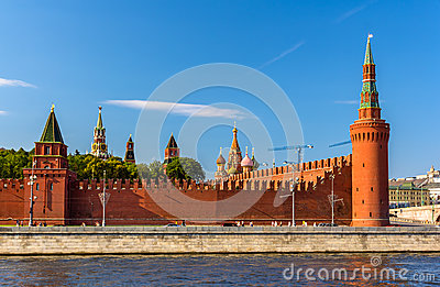 Moscow Kremlin Towers Stock Photography.